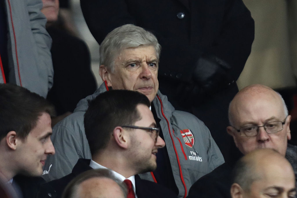 SOUTHAMPTON, ENGLAND - JANUARY 28: Arsene Wenger, Manager of Arsenal looks on from the stands during the Emirates FA Cup Fourth Round match between Southampton and Arsenal at St Mary's Stadium on January 28, 2017 in Southampton, England. (Photo by Bryn Lennon/Getty Images)