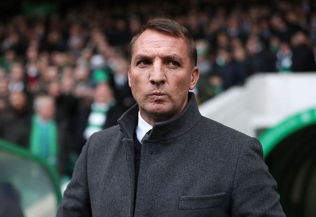 GLASGOW, SCOTLAND - JANUARY 29: Celtic Manager Brendan Rodgers is seen during the Ladbrokes Scottish Premiership match between Celtic and Heart of Midlothian at Celtic Park Stadium on January 29, 2017 in Glasgow, Scotland. (Photo by Ian MacNicol/Getty Images)