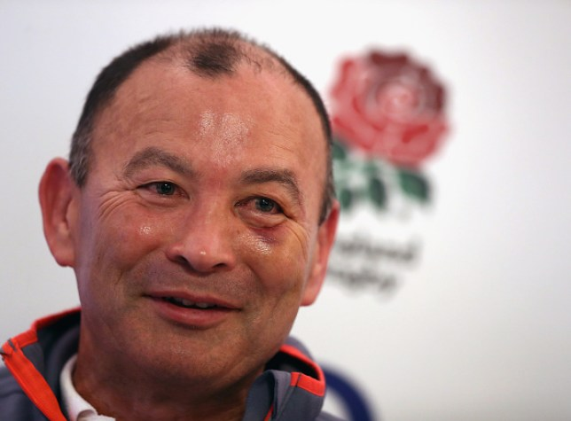 BAGSHOT, ENGLAND - FEBRUARY 02: Eddie Jones, the England head coach faces the mediaduring the England media session held at Pennyhill Park on February 2, 2017 in Bagshot, England. (Photo by David Rogers/Getty Images)
