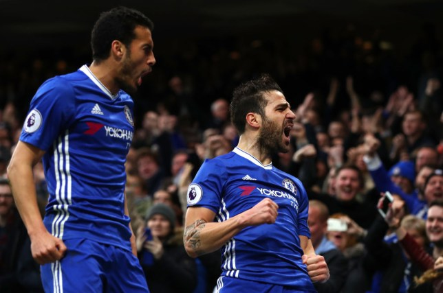during the Premier League match between Chelsea and Swansea City at Stamford Bridge on February 25, 2017 in London, England.