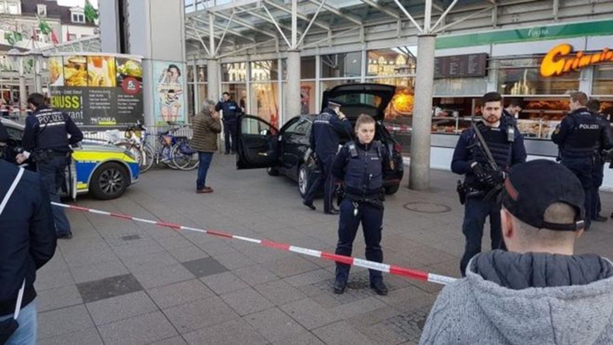 (Picture: AP) Heidelberg car attack injures three