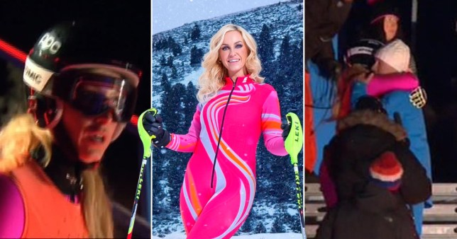 The Jump viewers divided over whether Josie should have bailed on her jump with Emma Parker Bowles (Picture: PA/Channel 4)