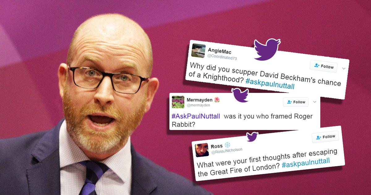#AskPaulNuttall trends in response to false Hillsborough claim