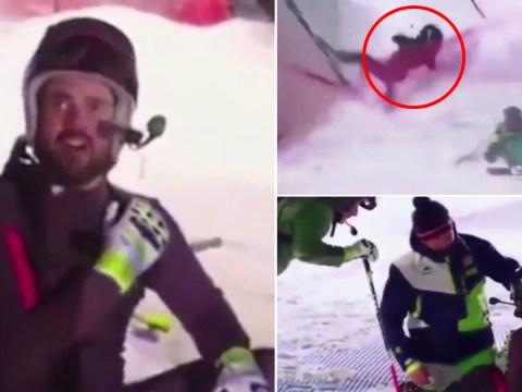 Spencer Matthews 'still competing' in The Jump despite agonising shoulder injury