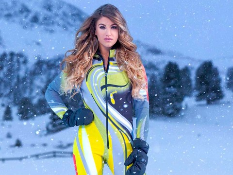 Amy Willerton takes a tumble in The Jump just days after replacing Vogue Williams