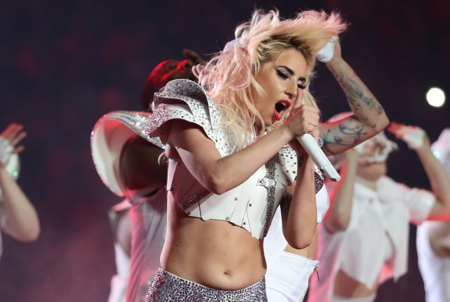 Editorial use only. No merchandising. For Football images FA and Premier League restrictions apply inc. no internet/mobile usage without FAPL license - for details contact Football Dataco Mandatory Credit: Photo by Sean Ryan/IPS/REX/Shutterstock (8269645an) Lady Gaga performs at Super Bowl LI, during half time at the NRG Stadium, Houston, Texas, USA Lady Gaga - Super Bowl LI, NRG Stadium, Houston, USA