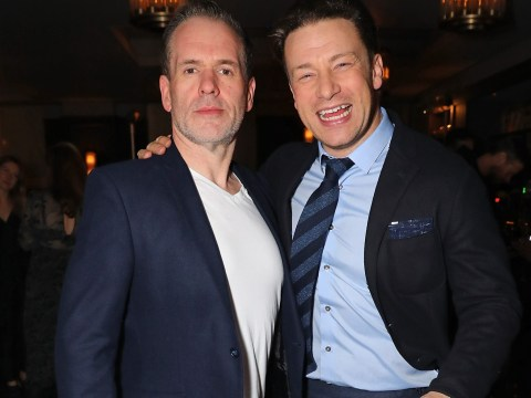 Chris Moyles shows off five stone weight loss at Jamie Oliver's restaurant launch