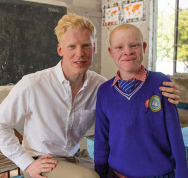 Dr Duke visits Africa to see the lives of albinos (Picture: BBC/Rory Jackson)