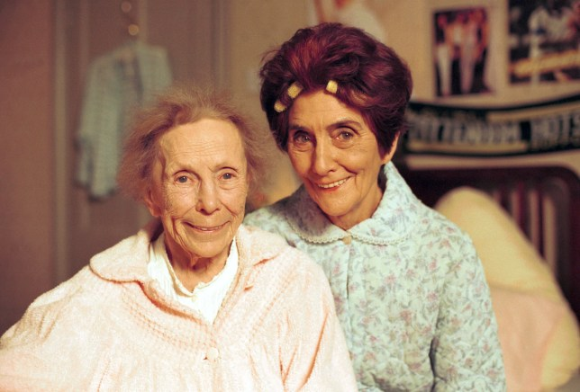 Television Programme: Eastenders with June Brown as Dot Cotton and Gretchen Franklin as Ethel Skinner. 557636-eastenders-2000-ethel-and-dot.jpg
