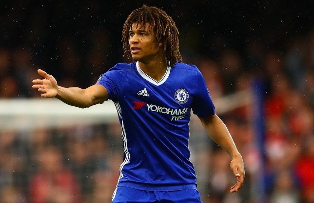 Nathan Ake of Chelsea during the Emirates FA Cup Fourth Round match between Chelsea and Brentford played at Stamford Bridge, London on 28th January 2017