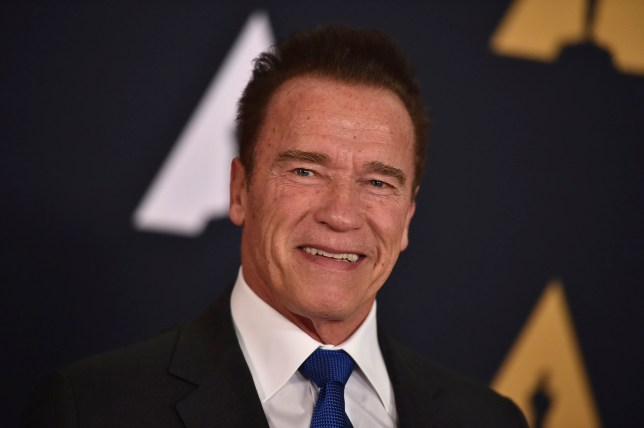 FILE - In this Nov. 12, 2016 file photo, Arnold Schwarzenegger is seen in Los Angeles. President Donald Trump is seeking prayers for Schwarzenegger over ratings for ìCelebrity Apprentice,î the show Trump once hosted. Addressing the National Prayer Breakfast in Washington, Thursday, Feb. 2, 2017, Trump said ratings went ìright down the tubesî and the showís been a ìtotal disasterî since the actor and former California governor debuted as host last month. (Photo by Jordan Strauss/Invision/AP, File)