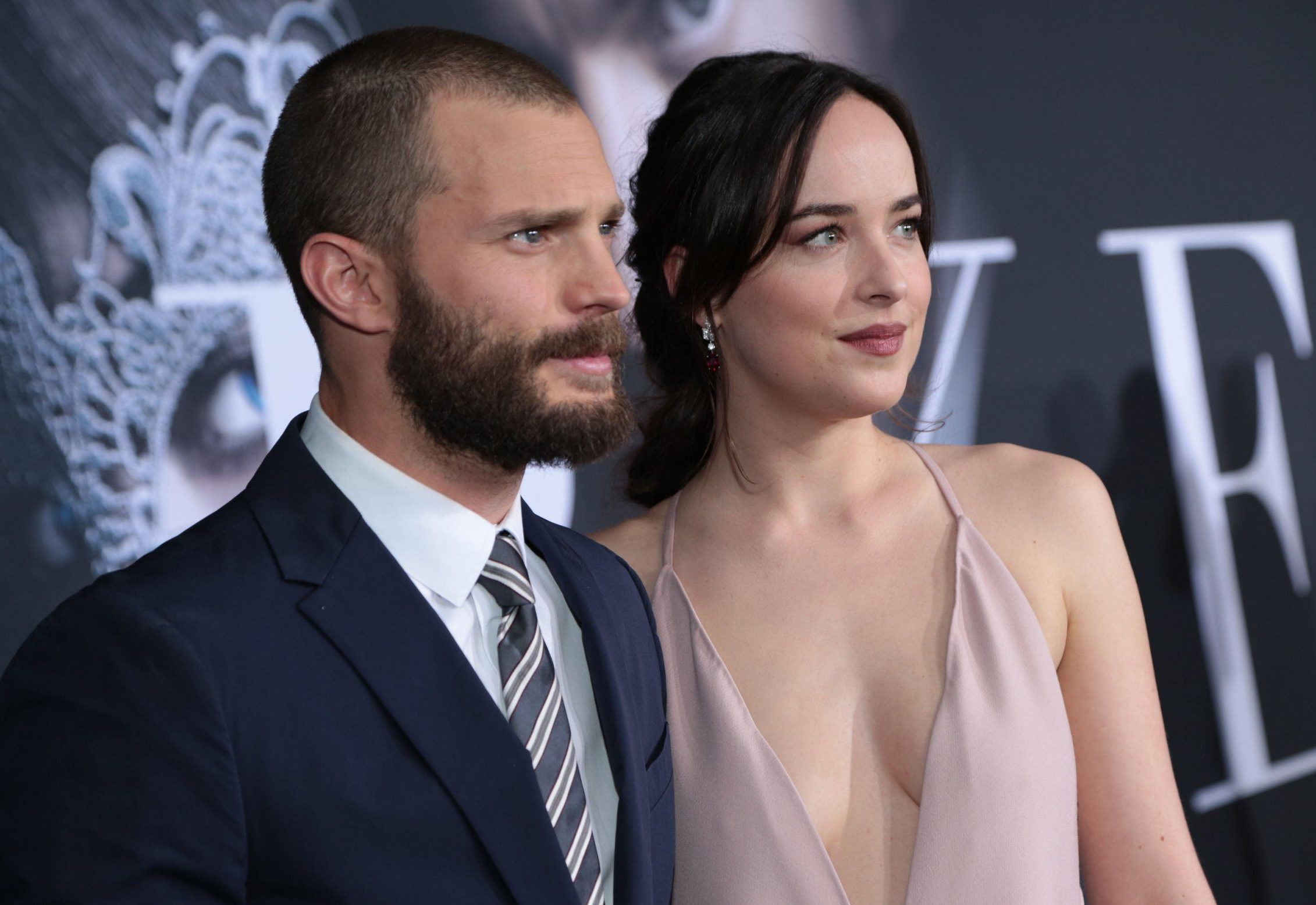 Mandatory Credit: Photo by Action Press/REX/Shutterstock (8268112ae) Jamie Dornan, Dakota Johnson 'Fifty Shades Darker' film premiere, Los Angeles, USA - 02 Feb 2017