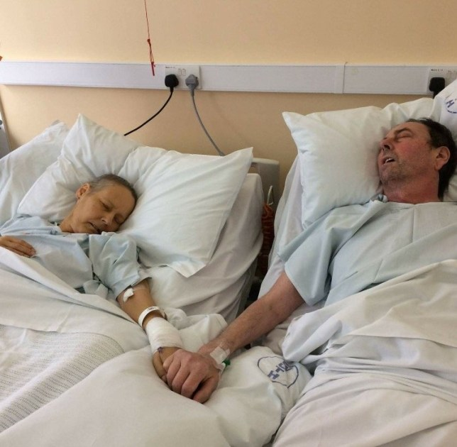 Julie & MIke Bennet .jpeg Heartbreaking photo of terminally ill couple's last moments together as their children say goodbye Credit: Copy Media