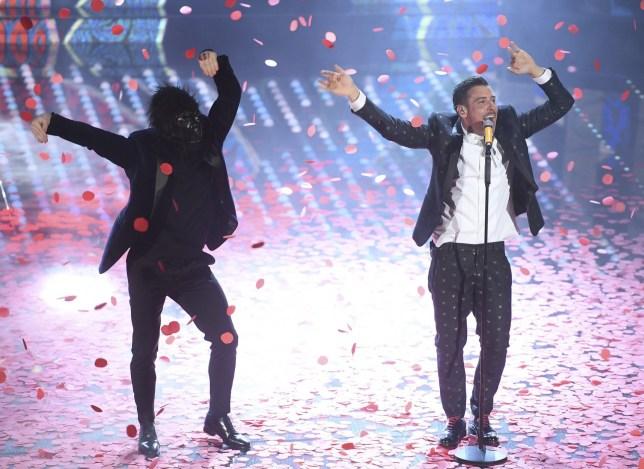 Italy sends rising star Francesco Gabbani – and an ape – to win Eurovision 2017