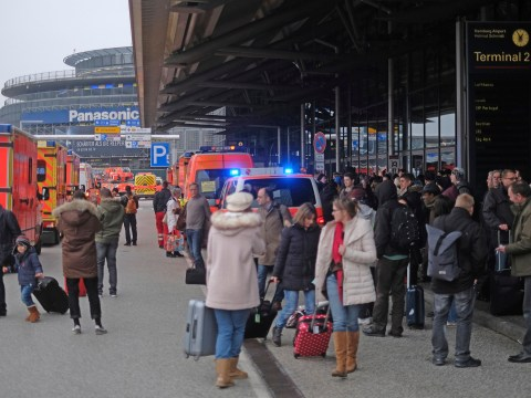 Hamburg airport evacuated after 68 people left unwell by 'unknown toxin'