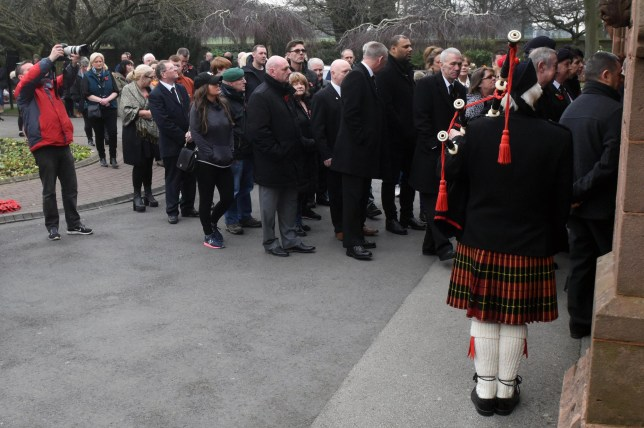 PIC BY LAURA SHEPHERD/MERCURY PRESS (PICTURED: A homeless army veteran, Steven McGrath was given a send off today at Anfield Crematorium in Liverpool today. More than 100 people paid their respects today. PIC TAKEN 14.02.2017) A homeless army veteran was given a send-off to be proud of when more than 100 strangers turned out for his funeral ñ after fears no one would attend. Ex-soldier Steve McGrath, who served in Northern Ireland and Cyprus, was found dead in his hostel accommodation on January 17 after ending up on the streets due to drug and alcohol problems. Best friend Chris Bridson feared the 56-year-old widower, who is believed to have been estranged from his two children and had no other immediate family, would have no guests at his funeral. SEE MERCURY COPY