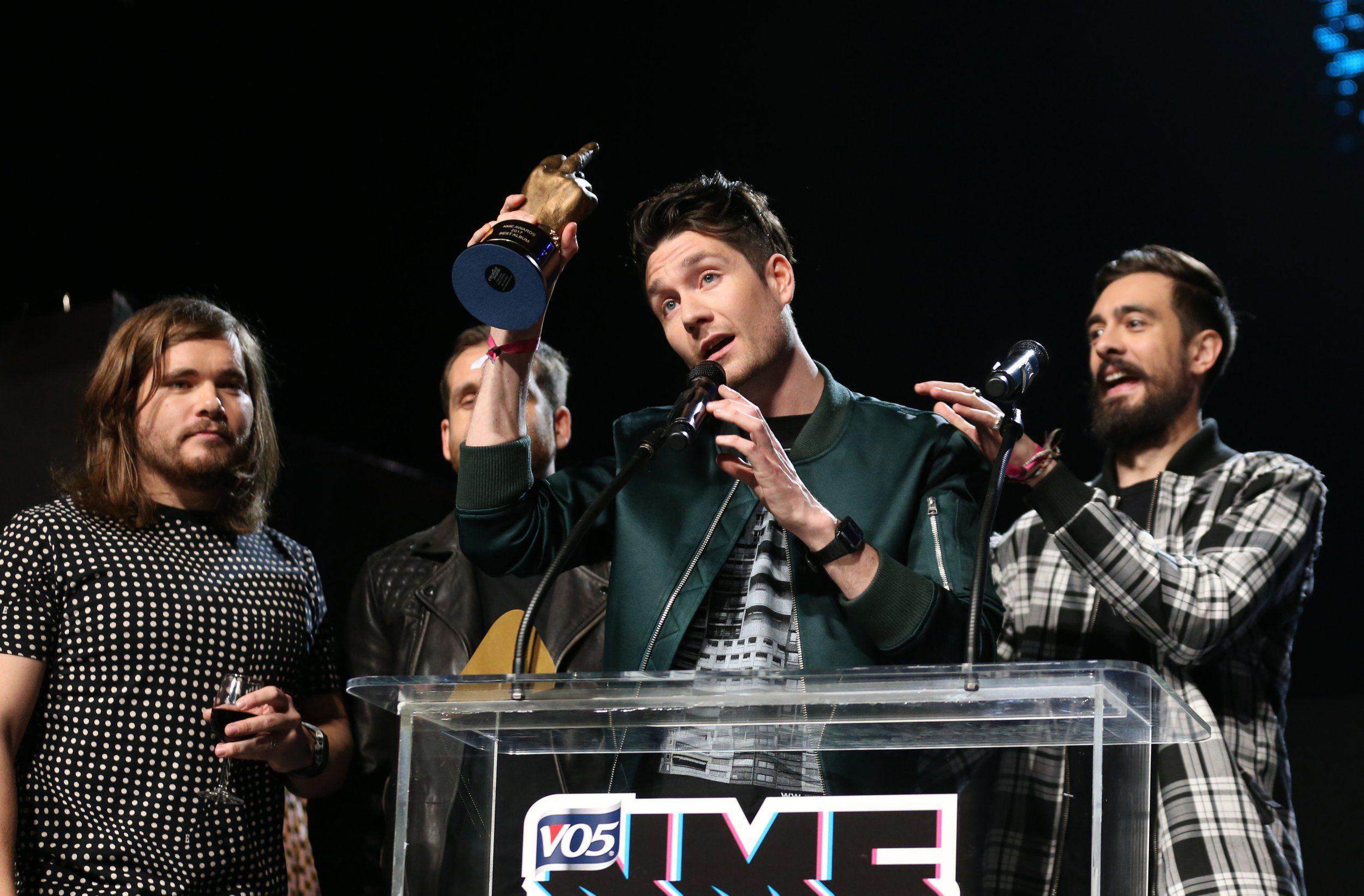 Mandatory Credit: Photo by James Gourley/REX/Shutterstock (8384993cd) Bastille - Winner of Best Album VO5 NME Awards, Show, London, UK - 15 Feb 2017