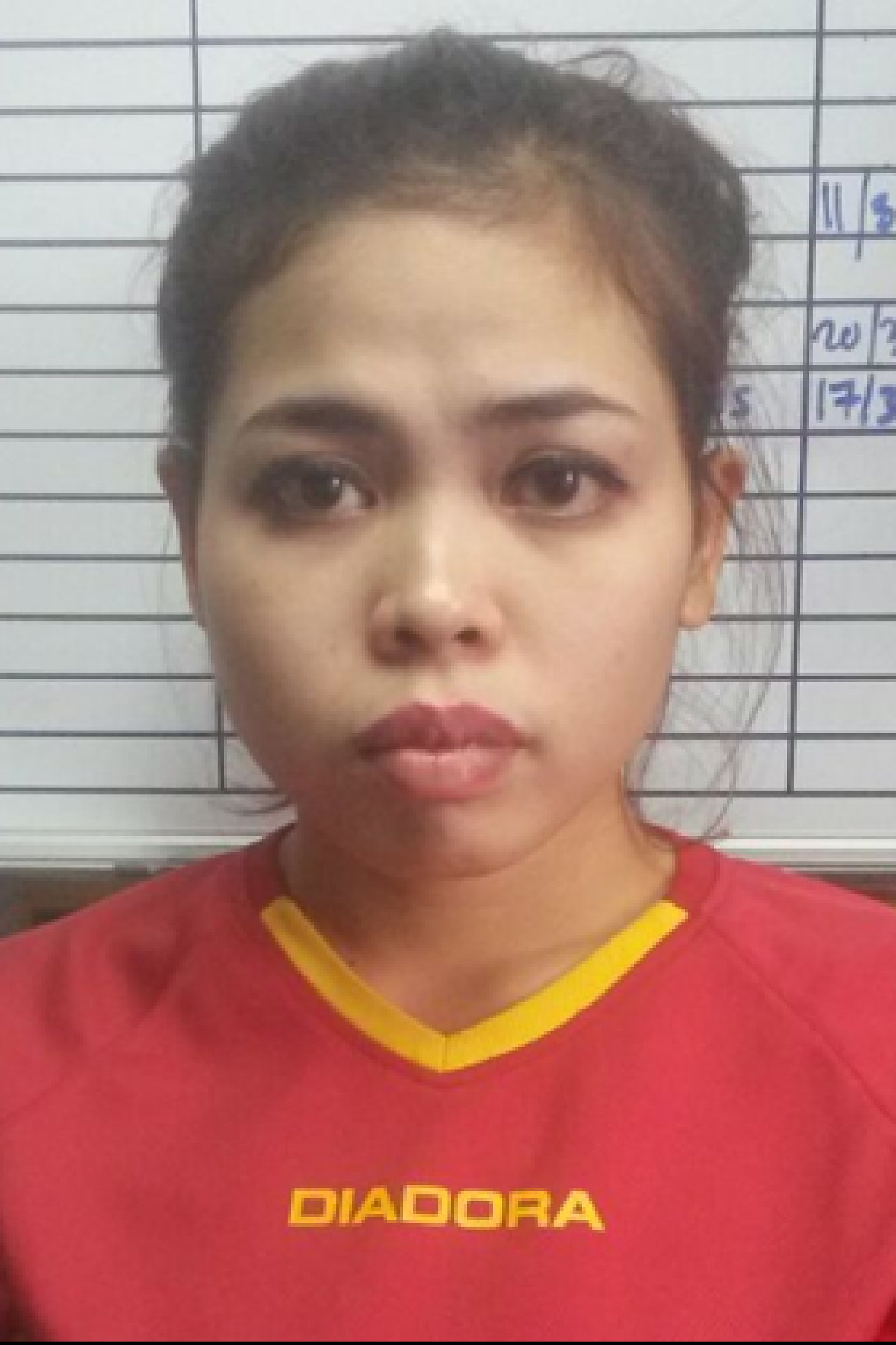"""This handout picture released by the Royal Malaysian Police in Kuala Lumpur on February 19, 2017 shows suspect Siti Aisyah of Indonesia, detained in connection to the February 13 assassination of Kim Jong-Nam, the half brother of North Korean leader Kim Jong-Un. Malaysian police said on February 19 they were seeking four more North Korean suspects in the February 13 assassination of Kim Jong-Un's half-brother at Kuala Lumpur's main airport, but the four had already left the country. / AFP PHOTO / Royal Malaysian Police / Handout / -----EDITORS NOTE --- RESTRICTED TO EDITORIAL USE - MANDATORY CREDIT """"AFP PHOTO / Royal Malaysian Police"""" - NO MARKETING - NO ADVERTISING CAMPAIGNS - DISTRIBUTED AS A SERVICE TO CLIENTSHANDOUT/AFP/Getty Images"""