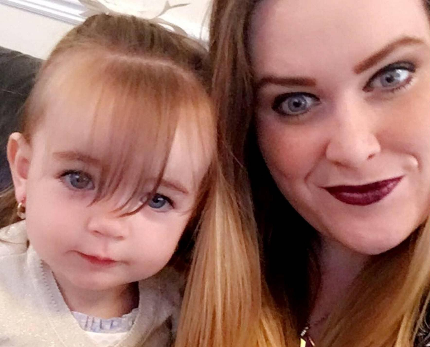 "Dated:21/02/2016 RACE HATE MAN SPAT IN BABY FACE COURT CASE Pictured is mother Rebecca Telford, 25 whose baby daughter Layla-Jean also pictured was attacked by Rezzas Abdulla who spat into the nine-month-old baby's face and shouted ""white people shouldn't breed"" in a sickening race-hate assault . see court copy by North News"