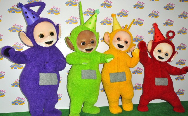 Mandatory Credit: Photo by Can Nguyen/REX/Shutterstock (8436194x) The Teletubbies (Tinky-Winky, Laa-Laa, Dipsy, Po) Teletubbies 20th Anniversary Party, London, UK - 26 Feb 2017