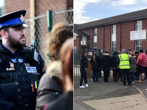 'Man holding weapon outside primary school gates' detained by armed police