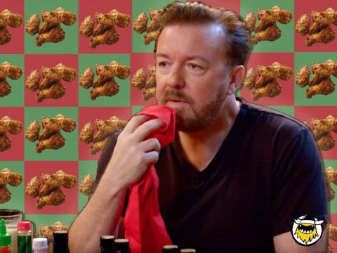 Watch Ricky Gervais let down spicy chicken wing lovers all across Britain