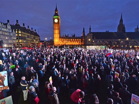 Huge protests take place across UK as MPs debate Trump state visit