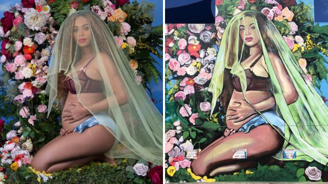 A giant mural dedicated to Beyonce's pregnancy post has appeared in Australia and everyone loves it