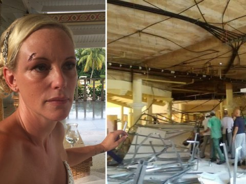 Hotel roof collapses pinning bride and guests to ground at wedding rehearsal dinner