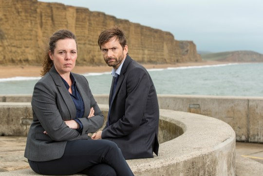 ITV BROADCHURCH SERIES 3 Pictured : OLIVIA COLMAN as DS Ellie Miller and DAVID TENNANT as DI Alec Hardy. This photograph is (C) ITV Plc and can only be reproduced for editorial purposes directly in connection with the programme or event mentioned above. Once made available by ITV plc Picture Desk, this photograph can be reproduced once only up until the transmission [TX] date and no reproduction fee will be charged. Any subsequent usage may incur a fee. This photograph must not be manipulated [excluding basic cropping] in a manner which alters the visual appearance of the person photographed deemed detrimental or inappropriate by ITV plc Picture Desk. This photograph must not be syndicated to any other company, publication or website, or permanently archived, without the express written permission of ITV Plc Picture Desk. Full Terms and conditions are available on the website www.itvpictures.com For further information please contact: Patrick.smith@itv.com 0207 1573044