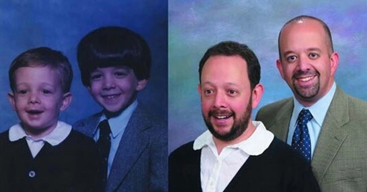 Brothers Recreate Photos From Childhood With Hilarious Results (Imgur)