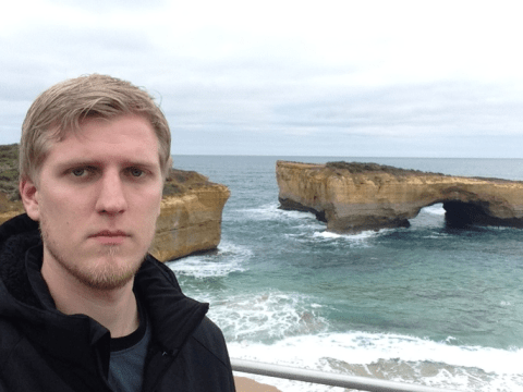 This grumpy guy travelled around Australia on his own and clearly hated every minute of it