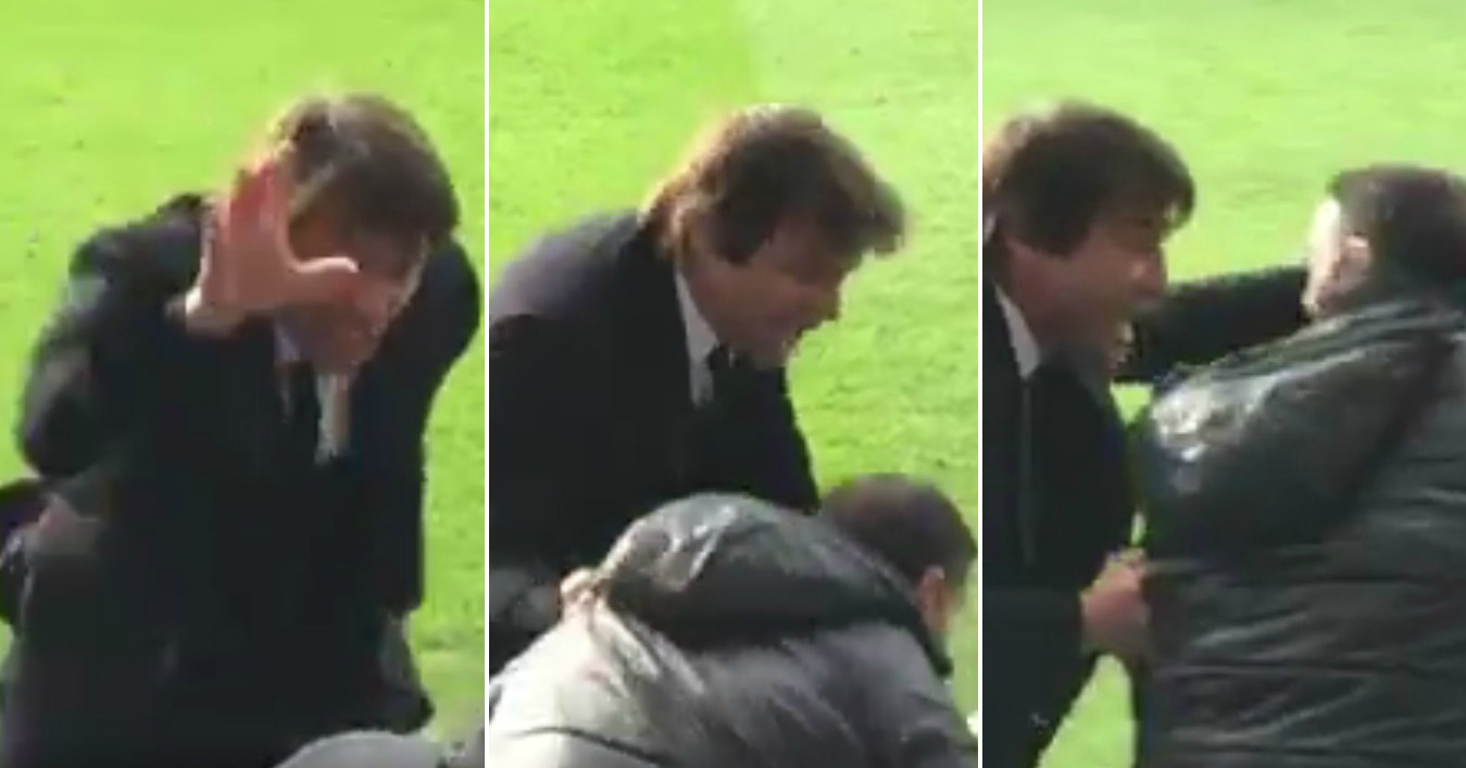 Antonio Conte goes berserk at Chelsea coach after Gabriel Paulista almost equalises for Arsenal