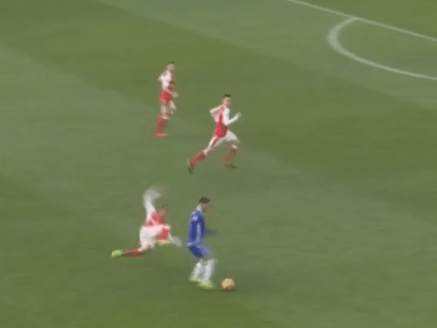 Eden Hazard ends Francis Coquelin and sums up the difference between Arsenal and Chelsea