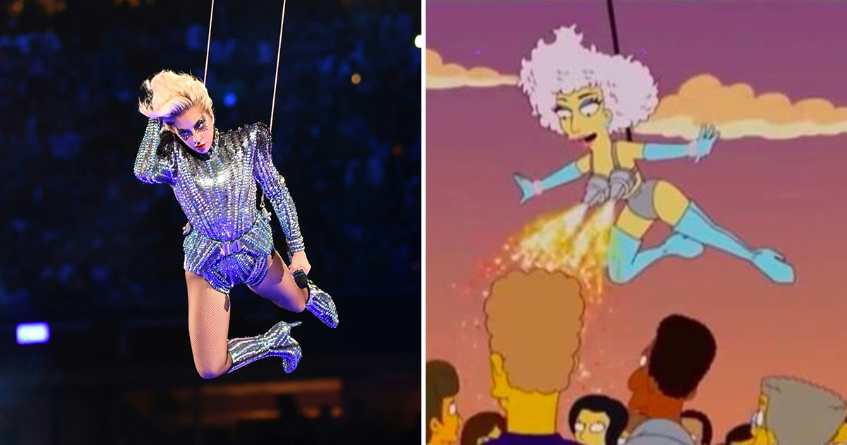 Did The Simpsons predict Lady Gaga's half-time show in 2012?