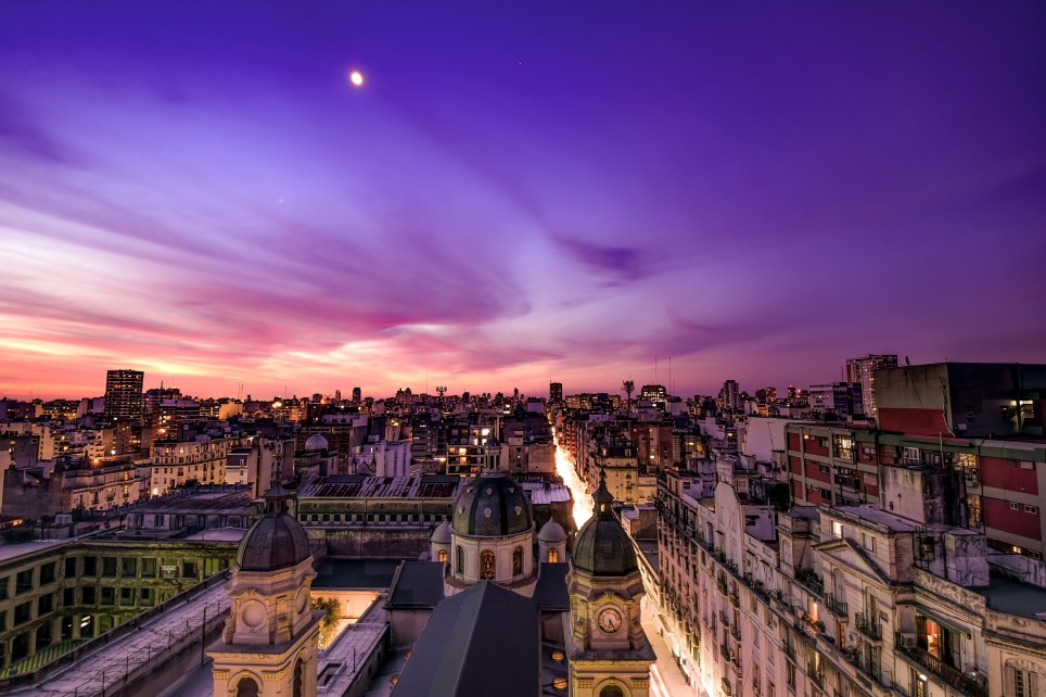 Nightfall over Buenos Aires (Picture: Getty)