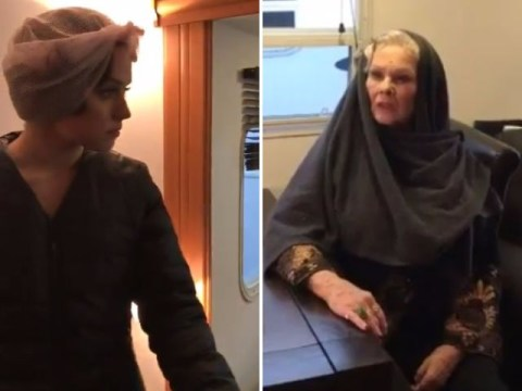 Judi Dench tries to wheedle Star Wars spoilers out of Daisy Ridley