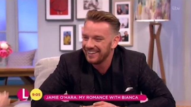 Jamie O'Hara gave Lorraine the giggles (Picture: ITV)