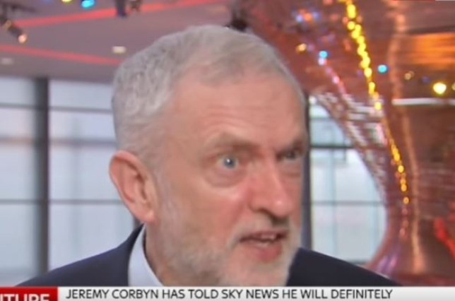 Jeremy Corbyn got a bit irritated during the interview (Picture: Sky News)