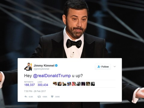 Jimmy Kimmel just tweeted Donald Trump midway through the Oscars