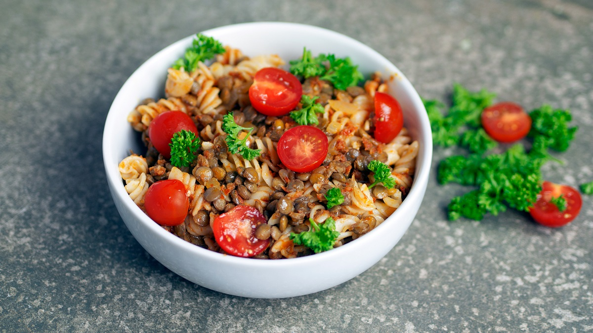 Vegan recipe video: Here's how to make lentil pesto pasta