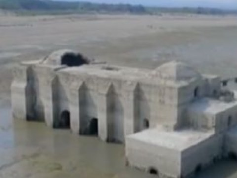 Ancient temple revealed after drought drains reservoir in Mexico