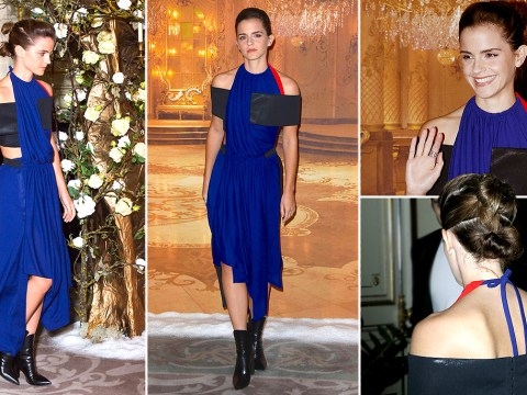 Emma Watson wore the most un-Belle dress possible to the first Beauty And The Beast press photocall