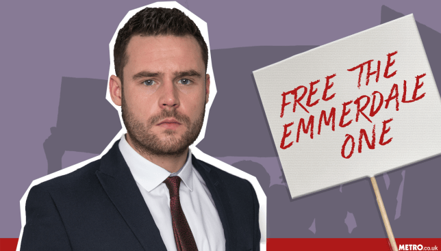 Emmerdale fans launch a FREE AARON DINGLE campaign picture: Getty - Credit:MylesGoode