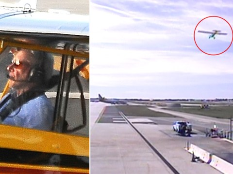 Shocking video footage shows Harrison Ford missed crashing his plane in California by a whisker