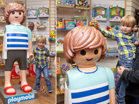 Boy with one arm is given vandalised Playmobil figure