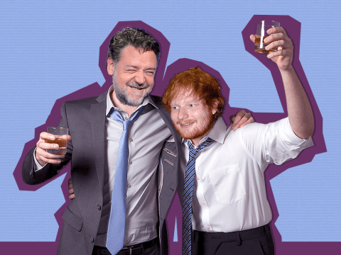 Ed Sheeran and Russell Crowe get drunk together and that's made our day