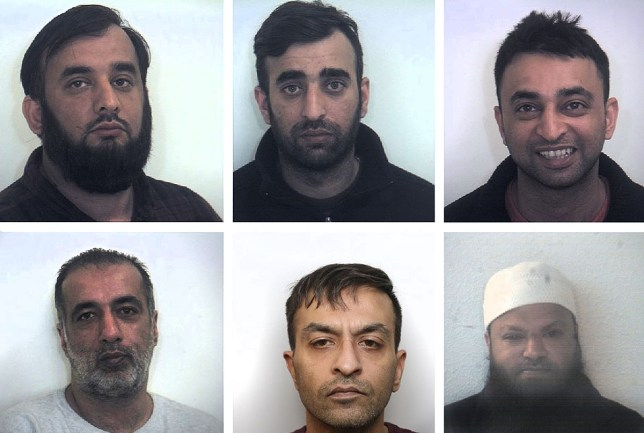 South Yorkshire Police undated photos of (top row left to right) Tayab Dad, Nasar Dad, Basharat Dad, (bottom row left to right) Matloob Hussain, Mohammed Sadiq and Amjad Ali who have been given jail sentences at Sheffield Crown Court for sex offences after they groomed two girls and sexually abused in Rotherham between 1999 and 2001. PRESS ASSOCIATION Photo. Issue date: Thursday February 2, 2017. See PA story COURTS Rotherham. Photo credit should read: South Yorkshire Police /PA Wire NOTE TO EDITORS: This handout photo may only be used in for editorial reporting purposes for the contemporaneous illustration of events, things or the people in the image or facts mentioned in the caption. Reuse of the picture may require further permission from the copyright holder.