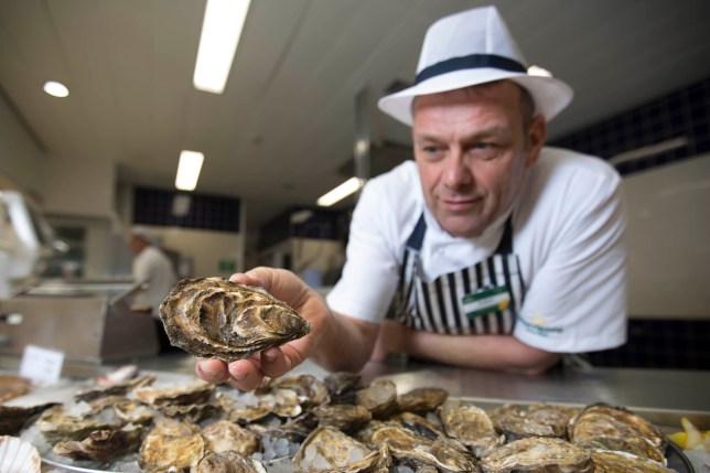 Man holding oyster