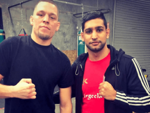 UFC star Nate Diaz trains with boxing duo Amir Khan and Andre Ward